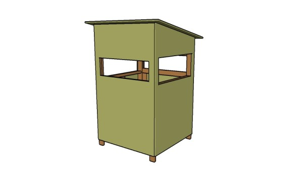 4x4 deer stand plans free garden plans how to build for Building deer blind windows
