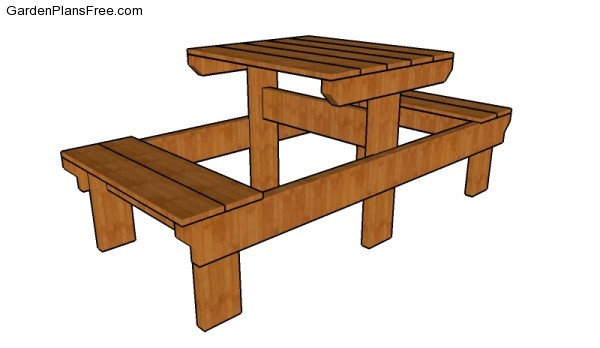 Small Picnic Table Plans | Free Garden Plans - How to build garden ...