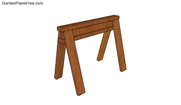 Wooden sawhorse plans