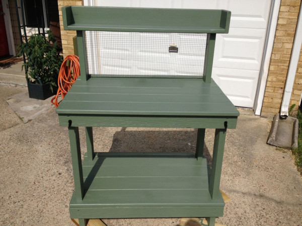Diy potting bench free garden plans how to build for Garden potting bench designs
