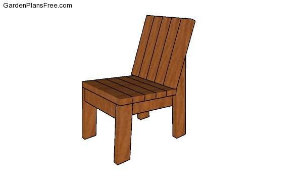 Outdoor chair plans free garden plans how to build for 2x4 furniture plans free