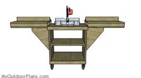 DIY Miter Saw Folding Table