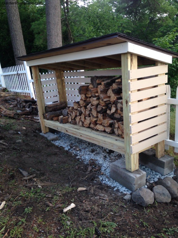 Diy Firewood Shed Free Garden Plans How To Build