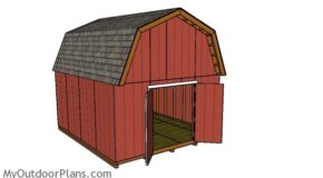 14×16 Barn Shed Building Plans
