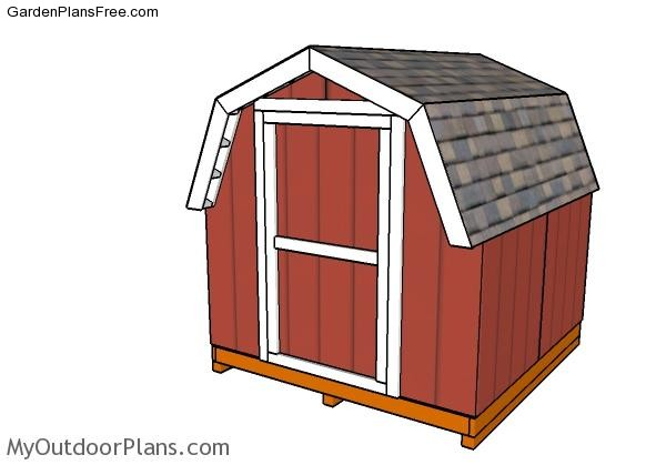 8x8-Short-Barn-Shed-Plans
