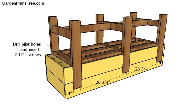 Assembling the raised garden bed