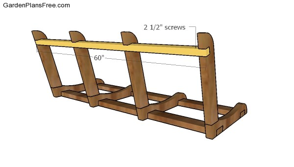 Backrest horizontal support