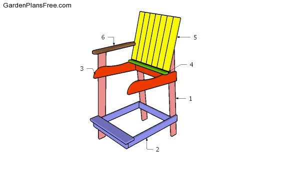 Bar Height Adirondack Chair Free Diy Plans Free Garden Plans