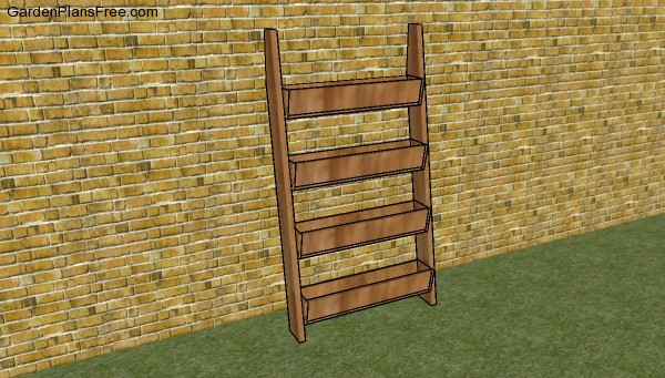 Vertical tiered planters plans
