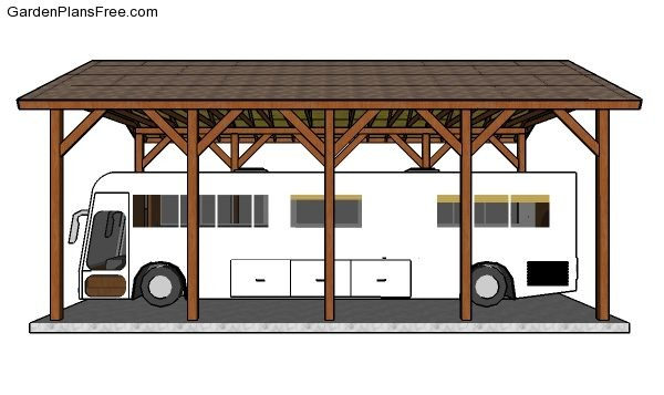 Do It Yourself Home Design: 20x40 RV Carport Plans - Free PDF Download