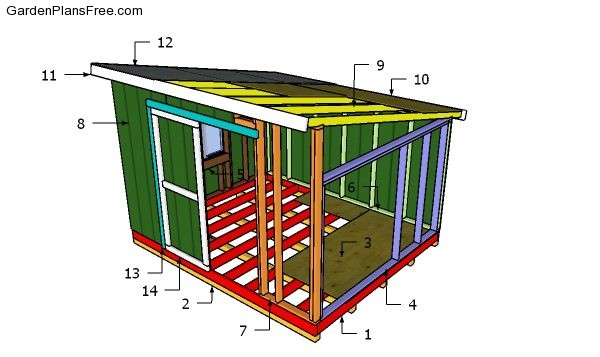 10x12 Lean to Shed PlansDownload Free Garden