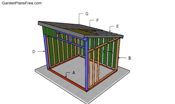 10x12 Run In Shed Free Diy Plans Free Garden Plans How