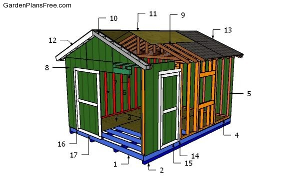 12x16 Shed Plans Diy Gable Shed Free Garden Plans How