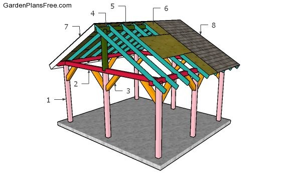 14x16 Outdoor Pavilion Plans Free Pdf, Outdoor Pavilion Plans