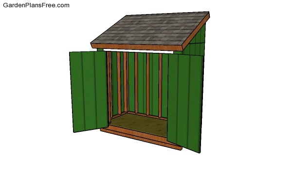 4x8 Lean to Shed Plans | Free Garden Plans - How to build