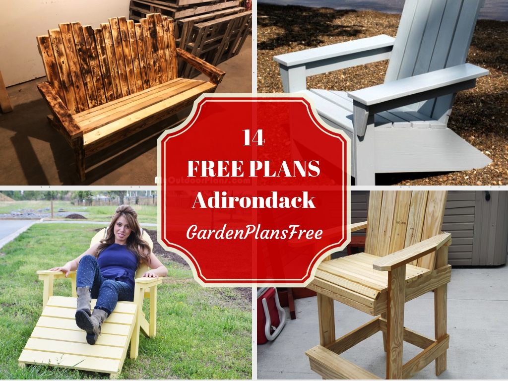 14 Absolutely Free Adirondack Chair Plans For Your Garden Free Garden Plans How To Build Garden Projects