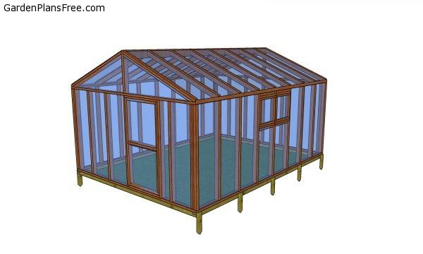 12x16 Gable Greenhouse - Free DIY Plans | Free Garden ...