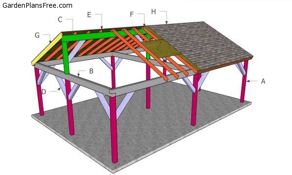 20x30 Gable Pavilion - Free DIY Plans | Free Garden Plans ...