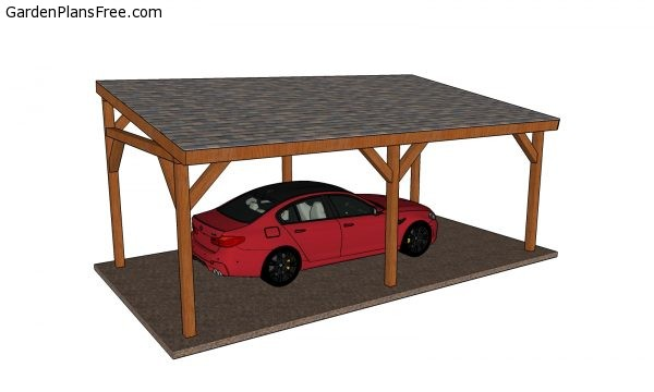 12 24 Lean To Carport Free Diy Plans Free Garden Plans How To Build Garden Projects